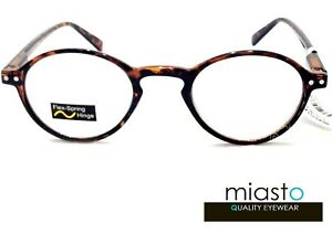 NWT$39.99 MIASTO RETRO ROUND KEYHOLE PREPPY READER VINTAGE READING SPECS GLASSES