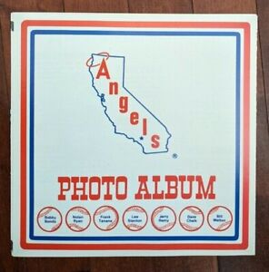 Original 1976 California Angels Team Photo Album Nolan Ryan Bobby Bonds Mint !!