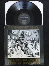 Microdisney 82 - 84 We Hate You South African Bastards Vinyl LP Rough Trade VG+