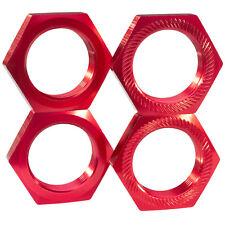 aluminium ÉCROUS DE ROUE 24 mm 6-kant Rouge pour 1:5 1:6 RC Voiture grands