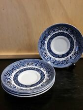 Blue Willow: Churchill Replacement Saucers x 4: Made in China