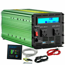 EDECOA 2000W DC 12V to 240V AC Power Inverter with Remote Control - Green