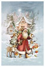 """Adventskalender Karte """"Am Weihnachtstag"""" Umschlag Glimmer Weihnachtsmann"""