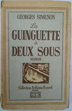 Georges Simenon - La guinguette à deux sous - Editions CIR
