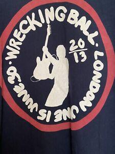 Bruce Springsteen 2013 Mens Tour T Shirt Hyde Park London