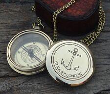 Vintage Maritime Stanley London Poem Brass Sundial Compass Nautical Gift Marin