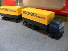 1/87 Herpa Iveco Magirus Deutz Dachser Pl.-HZ gelb + Lenkung