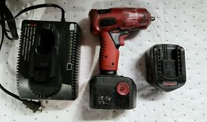 Snap On Ct4410a 14.4V 3/8 impact wrench with two batteries and charger