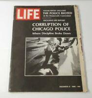 VINTAGE LIFE MAGAZINE DEC. 6,1968 CHICAGO POLICE BURTALITY ISSUE, ARICLES & ADS