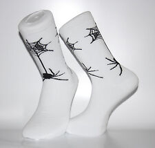 High Quality White Socks With Black Spiders