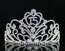 Quinceanera 15 Fifteen Birthday Party Rhinestone Tiara Crown W/ Hair Comb T38