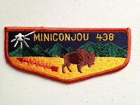 MINICONJOU OA LODGE 438 SCOUT SERVICE PATCH FLAP SHINING FLEUR-DE-LIS
