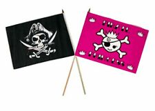 "12x18 12""x18"" Wholesale Combo Pirate Deadman's & Pink Princess Stick Flag"