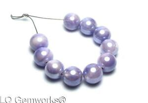 10 pcs Lavender AUSTRALIAN MOONSTONE 9mm Smooth Round Beads