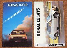 1981-82 RENAULT 14 Sales Brochures -14TL GTL TS  Renault Boutique Accessories