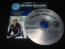 All JASON ALDEAN Karaoke 19 Song CDG Burnin' It Down,Feel That Again,Night Train