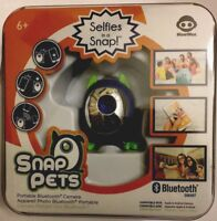 WowWee Snap Pets SnapPets Portable Bluetooth Smart Camera New Blue Cat