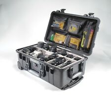 Black Pelican ™ 1510 Case 1514 with Padded dividers + nameplate+ Lid Organizer