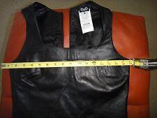 D&G Dolce&Gabbana Leather Sheath Dress EUR4O US4