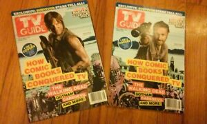 The Walking Dead TV Guide Double Cover Issue Set,Feb-Mar.2015,Lincoln & Reedus