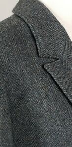 Pendleton Deep Teal Green Herringbone Two Button Wool Blazer - Womens 10