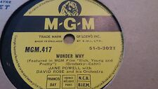 JANE POWELL & DAVID ROSE WONDER WHY & I CAN SEE YOU MGM417