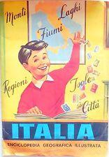 ALBUM FIGURINE ITALIA ENCICLOPEDIA GEOGRAFICA ILLUSTRATA CON 115/175 ANNI 60
