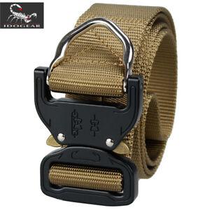 "IDOGEAR Tactical Belt Quick Release Riggers Belt 1.5"" D Ring Paintball Gear Army"