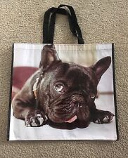 French Bulldog Puppy Frenchie Dog Tote Storage Shopping Beach Bag Large Reusable