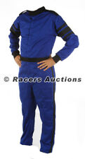 X-Large Blue One Piece Single Layer Driving Suit Fire Race SFI Rated