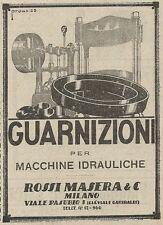 Z2156 Rossi Masera - Guarnizioni - Pubblicità d'epoca - Advertising
