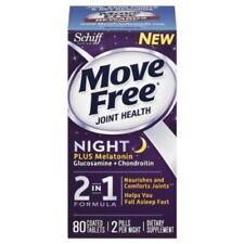 Move Free Night Glucosamine Chondroitin plus Melatonin, 80ct EXP 01/2017