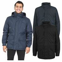 Trespass Mens Winter Jacket Padded Waterproof Insulated Coat in Navy Black