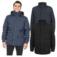 Trespass Mens Winter Jacket Padded Waterproof Insulated Coat in Navy Black