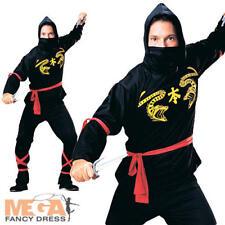 Ninja Martial Arts Mens Fancy Dress Adult Japanese Stag Party Uniform Costume