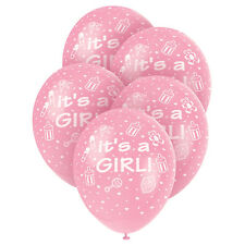 Its a Girl! Pink Pearlised Balloons [5] Baby Shower Party, Decorations Latex