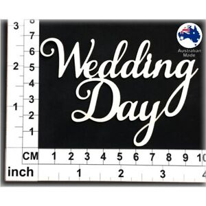 Chipboard Words for Scrapbooking, Cardmaking - Wedding Day CT112