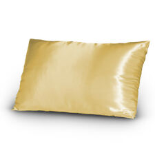 Lingerie Silky Satin Bed Pillowcase Set King Size Gold