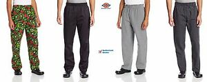 Dickies Chef The Traditional Unisex Baggy Chef Pants Elastic Waist Pant DC221