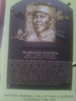 mariano rivera stamped cancelled plaque postcard hall of fame induction 2019 hof