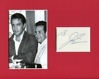 Joe Esposito Elvis Presley Road Manager Rare Signed Autograph Photo Display