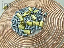 10m Bremsleitung 4,75 mm Kupfer +20 Überwurfmuttern Verschraubung +5 Verbinder