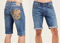 True Religion Brand Jeans Men's Geno Embroidered Pocket Shorts - MJ19NXL2