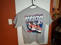 M&O Knits Joe Nemechek Fan Club Nascar #87 Racing Gray T Shirt Mens XL
