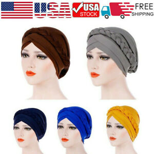 India Hat Muslim Ruffle Cancer Chemo Beanie Scarf Turban Two Tail Wrap Cap Tronet Muslim Turbans for Women