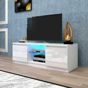 TV Cabinet TV Stand with Lights Modern LED TV Cabinet with Storage Drawers, Livi
