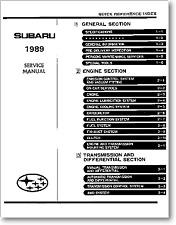 Manual de Servicio Subaru 1989 Service Manual Workshop en Inglés.