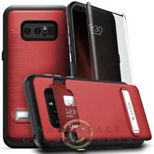 Samsung Note 8 Zizo Shockproof Case - Red/Black Shell Cover Shield  Ga