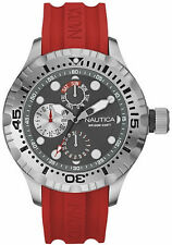 Nautica NAD15007G BFD 100 Black Dial Silicone Strap Multifunction Men's Watch