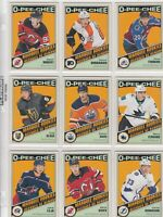 2019-20 O PEE CHEE RETRO  MARQUEE ROOKIE 17 DIFFERENTS CARDS  LOT 68     a